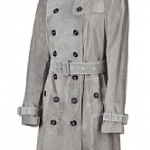 Burberry Light Grey Belted Leathercoat Trench Style, 1.800 EUR