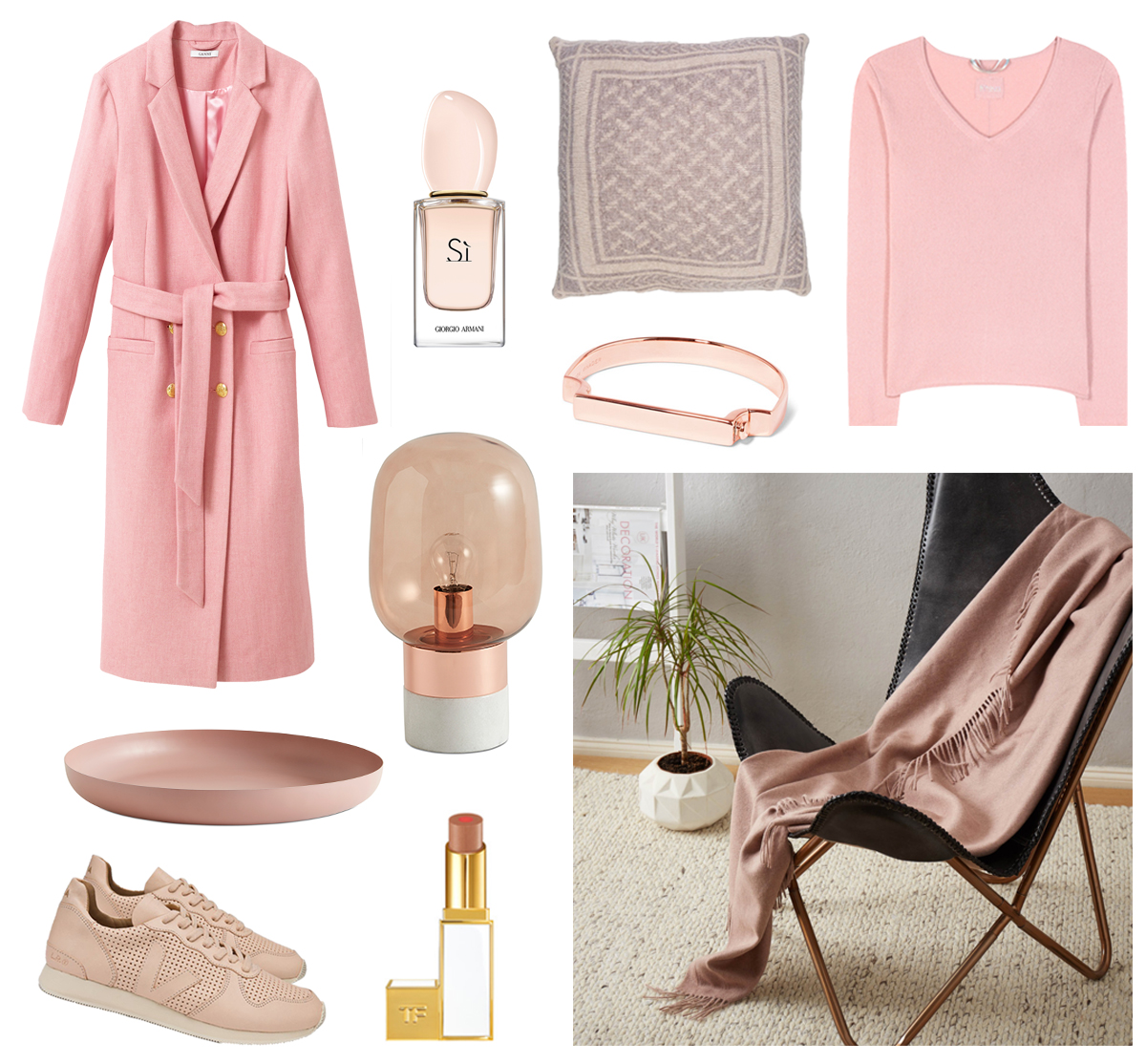 therandomnoise.com_pink_ganni-coat_81hours-sweater_veja-snakers_boconcept_tom-ford_si-georgio-armani_lala-berlin-pillow_urbanara-decke