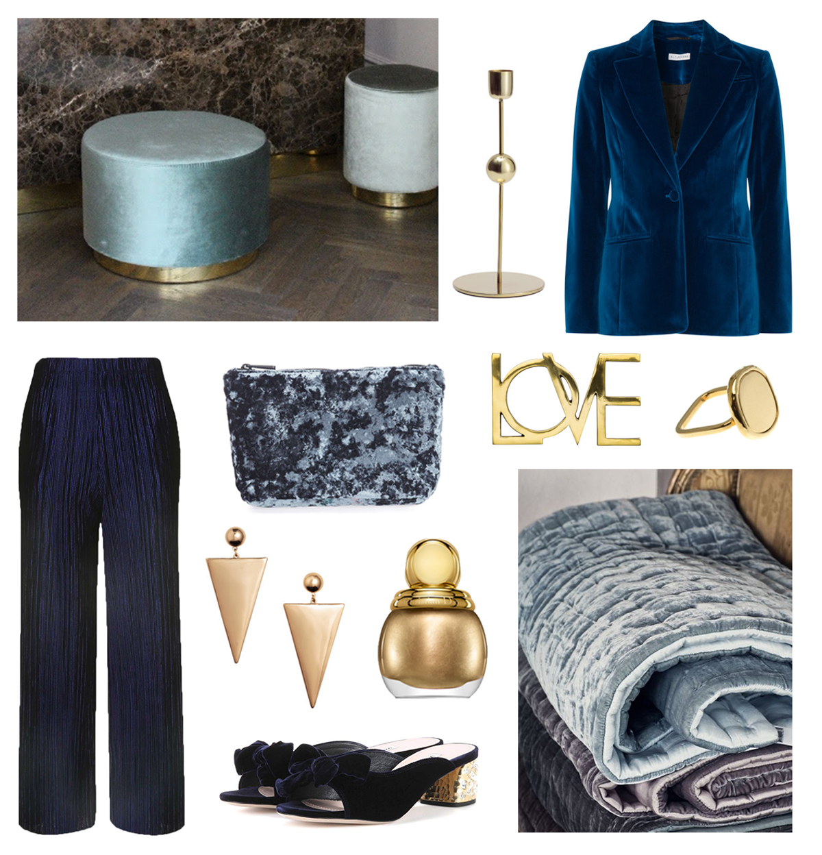 therandomnoise.com_velvet blue gold_pouf april first_dior_miu miu peep toe_hm