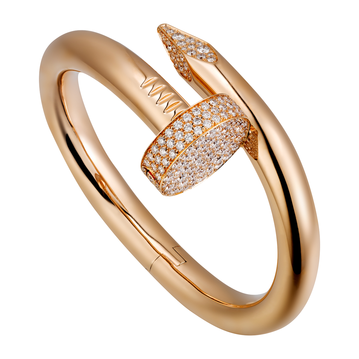 Juste Un Clou - Ring in Roségold mit Diamanten